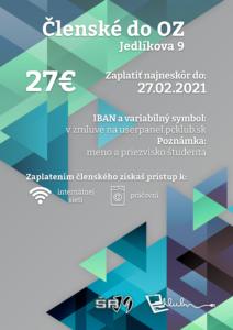 Členské do OZ LS 2021